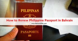 how to renew ph passport manama