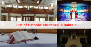 List of Catholic Churches in Bahrain