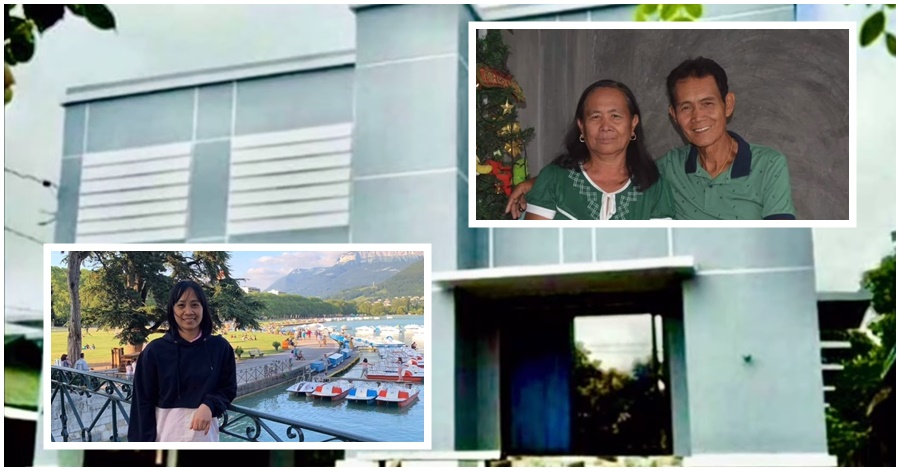 KATAS OFW: Domestic Helper in Bahrain Gifts New House for her Parents, Family in the Philippines